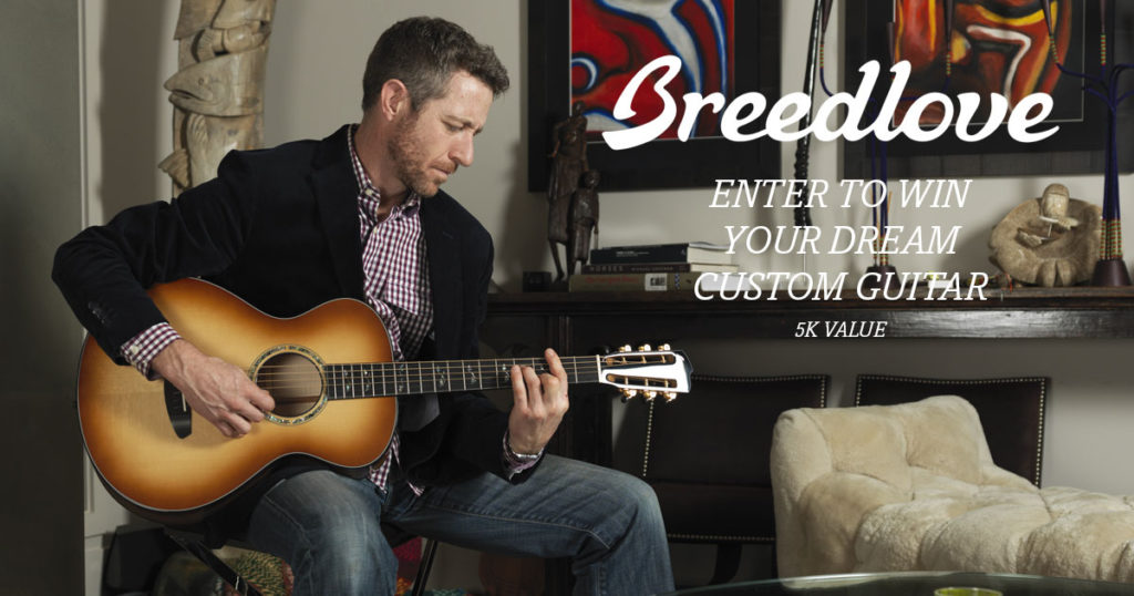 Breedlove Introduces Win Your Dream Custom Masterclass Guitar Promotion